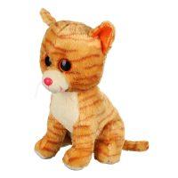 عروسک گربه چشم تیلهای نارنجی