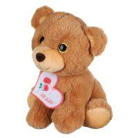 عروسک خرس شکلاتی چشم تیلهای