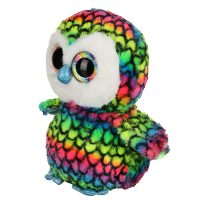 عروسک جغد چشم تیلهای هفت رنگ