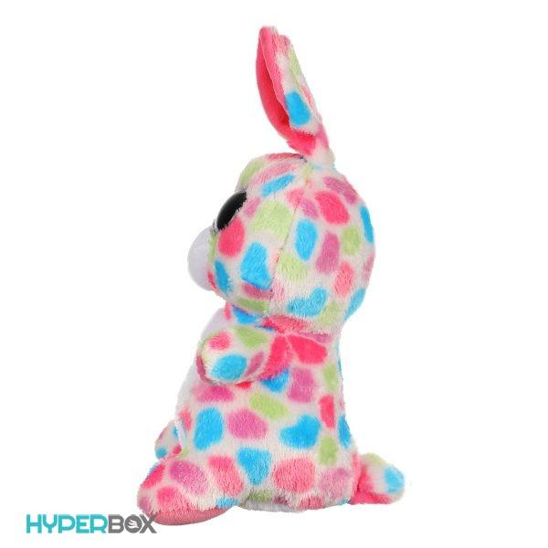 عروسک خرگوش چشم تیلهای خالدار