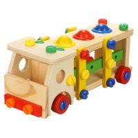 اسباب بازی اتوبوس چوبی