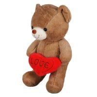 عروسک خرس قلب به دست