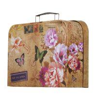 جعبه هدیه چمدانی طرح Butterfly