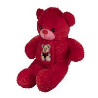 عروسک خرس قرمز شال گردن دار