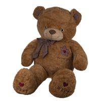 عروسک خرس پاپیون چهارخانه