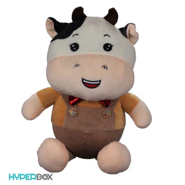 عروسک گاو سرهمی دار 40 سانتیمتری