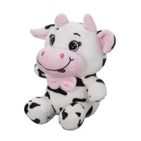 عروسک گاو پاپیون صورتی