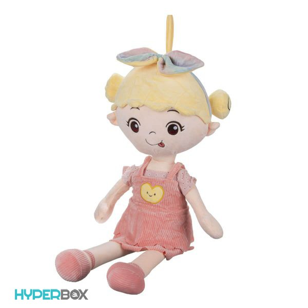 عروسک دخترک پاپیون بر سر