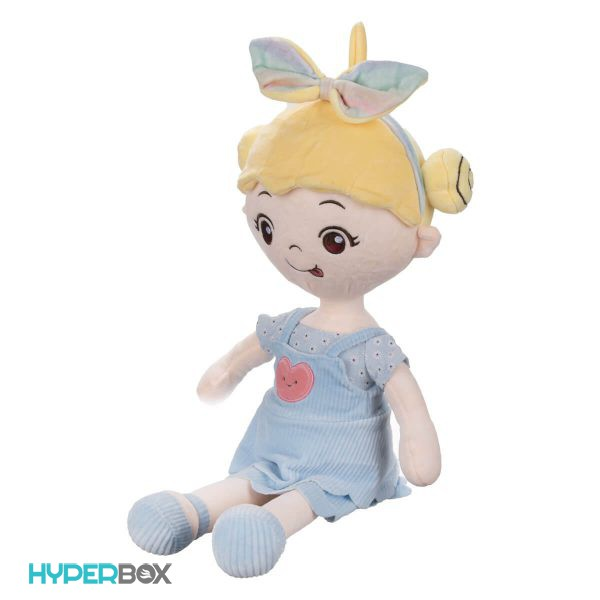عروسک دخترک پاپیون بر سر بزرگ