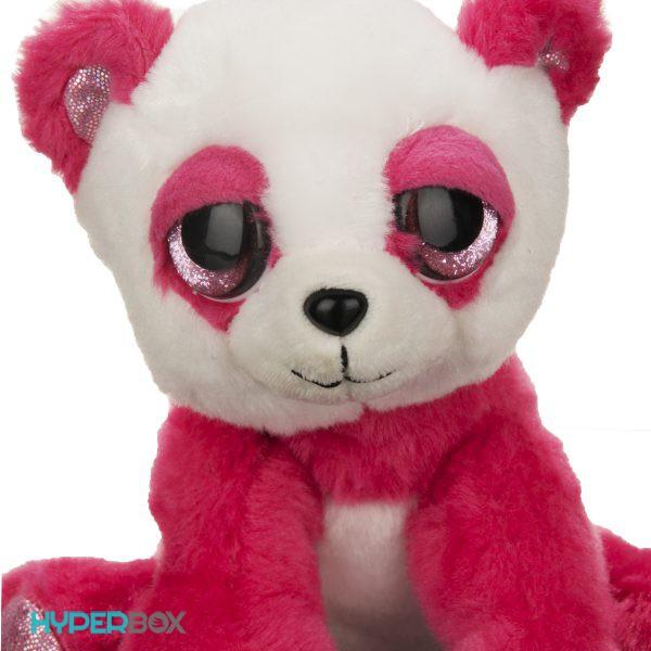 عروسک پاندای صورتی چشم تیلهای