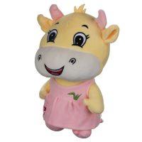 عروسک گاو زرد دختر و پسر 28 سانتیمتری