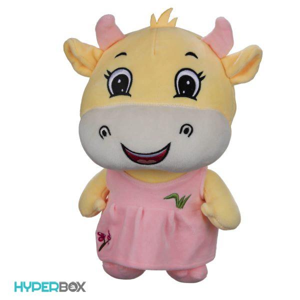 عروسک گاو زرد دختر و پسر 36 سانتیمتری