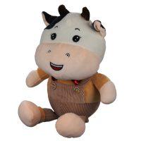 عروسک گاو سرهمی دار 60 سانتیمتری