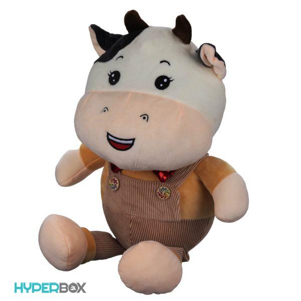 عروسک گاو سرهمی دار 45 سانتی متری