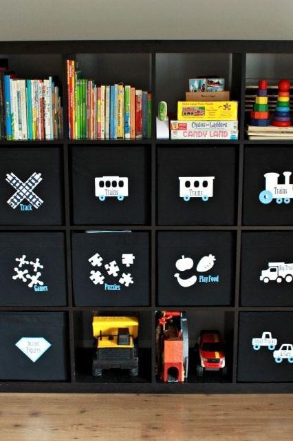 استفاده از برچسب عکس بر روی جعبه اسباب بازی ها