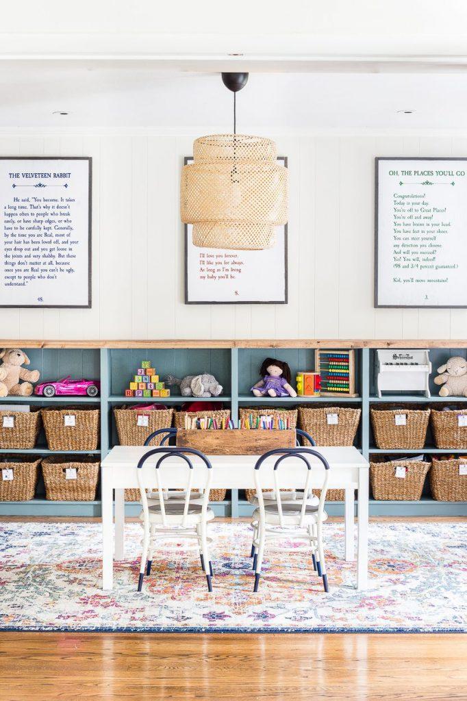 قفسه بندی اسباب بازی های اتاق کودک