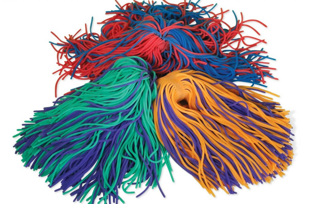 توپ های رشته ای رنگارنگ برای بازی و کاهش تنش های عصبی