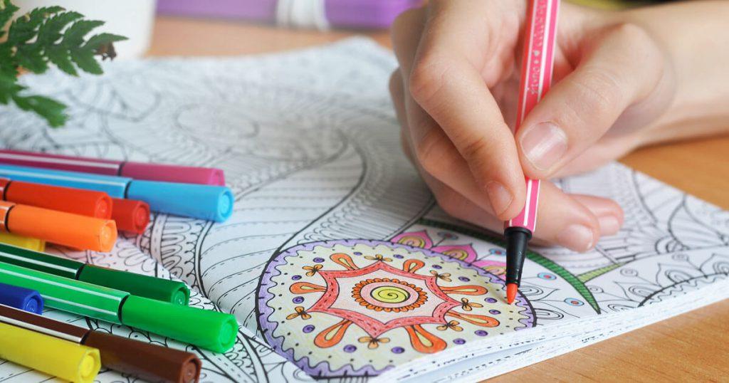 دفتر نقاشی برای کودکان جهت کاهش استرس