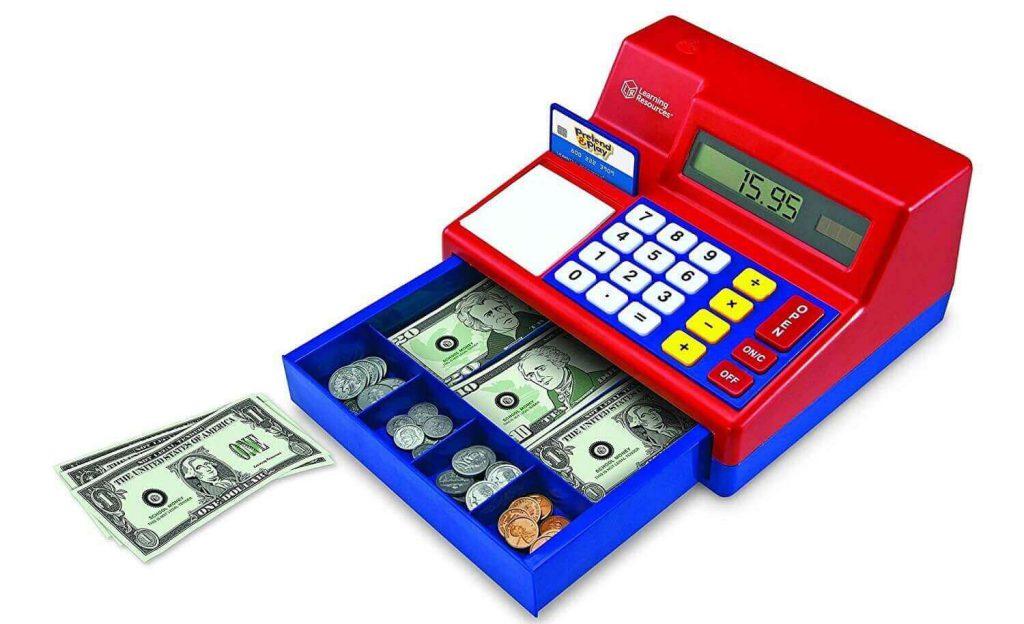 اسباب بازی محاسبه و صندوق پول برای یادگیری ریاضی