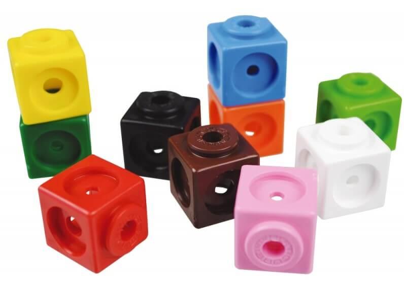 مکعب های رنگارنگ برای یادگیری ریاضی کودکان