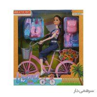 عروسک باربی دوچرخه سوار