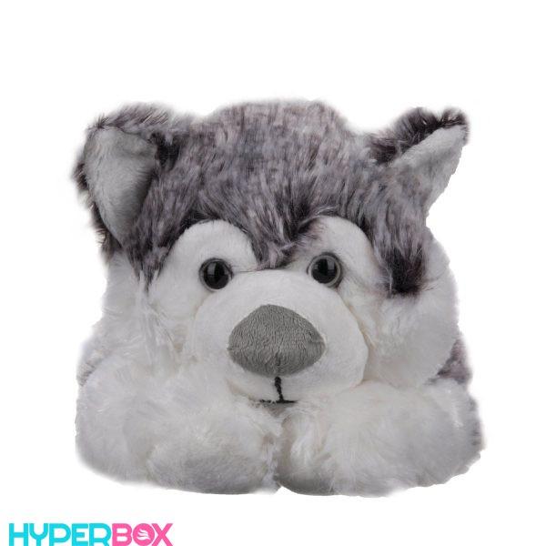 عروسک سگ هاسکی پشمکی